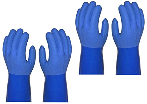 True Blues Ultimate Household Gloves, 2 Pairs, You get 4 Gloves (LARGE, BLUE)