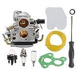 Hippotech Carburador con Filtro de Aire Filtro de línea de Combustible para Husqvarna 235 235E 236 236E 240 240E Motosierra