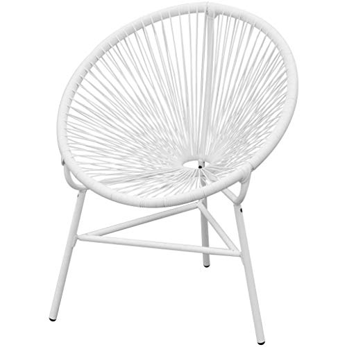 pedkit Garden String Moon Chair Poly Rattan White