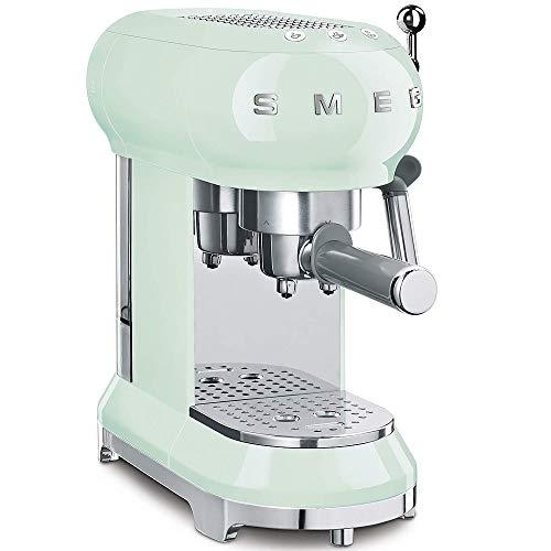 Smeg ECF01PGEU - Macchina per caffè espresso, colore: Verde pastello