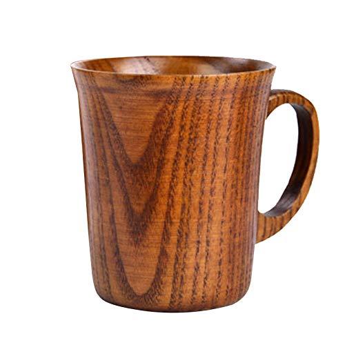 huiingwen Taza de té de madera maciza natural de madera maciza para beber, taza de madera japonesa grande, taza de madera de azufaifo, con ácido creativo, taza de aislamiento de madera