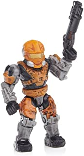 Halo Wars Mega Bloks LOOSE Mini Figure UNSC Orange Spartan Hazop [Series 8]