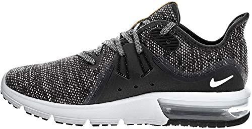 Nike Wmns Air Max Sequent 3, Scarpe Running Donna, Nero (Black/White/Dark Grey 011), 38 EU
