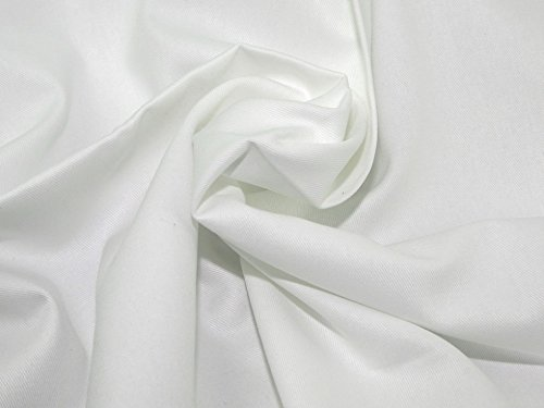 Minerva Crafts Heavy Weight Cotton Drill Dress Fabric White - per metre