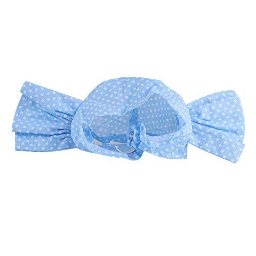 Huisdier, kat, oor, hoofdband, katoenmix, huisdier, elastiek, hoofdband, aantrekkelijk en comfortabel kattenoor, haarband met rond puntenpatroon, honden, katten, haarsieraad, Blauwe punt