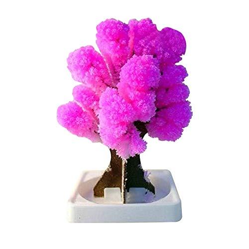 Fanville 1 / 2pcs Magic Japanischer Sakura-Baum Weihnachtsbaum Papier Blühendes Papier Kristallbäume Kinder DIY Spielzeug Japanisches Miniaturbaum-Kit Blumendekoration