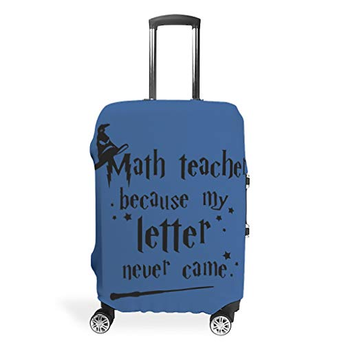Travel Math Teacher Because My Letter Never Came Luggage Cover - Magic Eye-Catching 4 Sizes fit Most Trolley White m(22-24 inch)