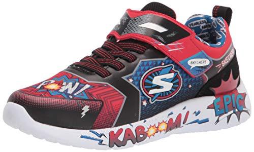 Skechers Jungen Dynamight - Defender Squad Sneaker, Rot, 33 EU