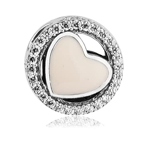 LIIHVYI Pandora Charms para Mujeres Cuentas Plata De Ley 925 Claro Wonderful Love Jewelry Argent Compatible con Pulseras Europeos Collars