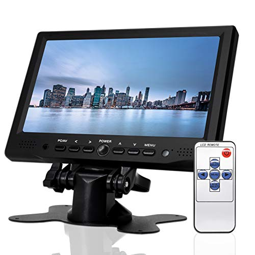 7 inch Monitor HD 1080P VGA Monitor ; Small HDMI Screen Server Monitor for PC/TV/Raspberry PI/Camera ; IPS 1024x600 Pixel,w/Speaker, Earphone Jack,Mounting Brackets