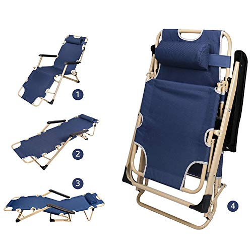 Outdoor Lounge Chairs – Foldable Lounge Chairs for Outside – Folding Lounge Chairs for Sun Tanning – Backrest Support Reinforcement Rod, Adjustable Footrest and Padded Armrests 70 x 26 x 12.6 inches