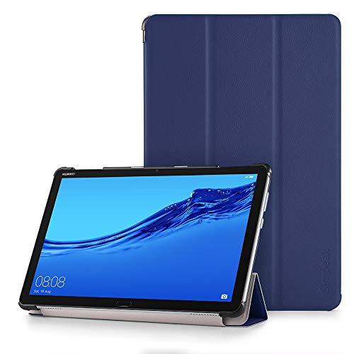 Simpeak Hülle Kompatibel für Huawei Mediapad M5 Lite 10 Zoll, Ultra Dünn mit Standfunktion Kompatibel mit Mediapad M5 Lite Schutzhülle Hülle - Blau