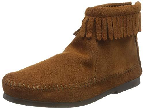 Minnetonka Unisex-Kinder BACK ZIP BOOT Mokassin stiefel, Braun (BROWN), 26