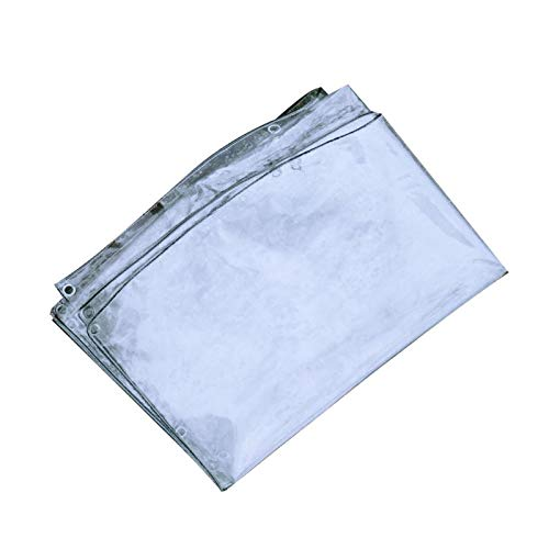 WENJUN Lona Transparente Impermeable, Lona Transparente De PVC Plegable con Ojales, para Jardines, Invernaderos, Cubiertas De Protección De Invierno para Plantas (1.8mx3ft) (Size : 1.2m×4m)