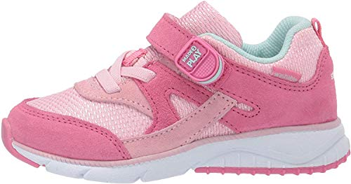 Stride Rite Baby Ace Boy's and Girl's Premium Leather Sneaker, Pink, 4.5 W US Toddler