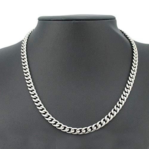 Cadena para el Cuello de los Hombres Collares de Acero Inoxidable Cadena para Hombres Collares de Hip Hop Punk Cadena de Oro