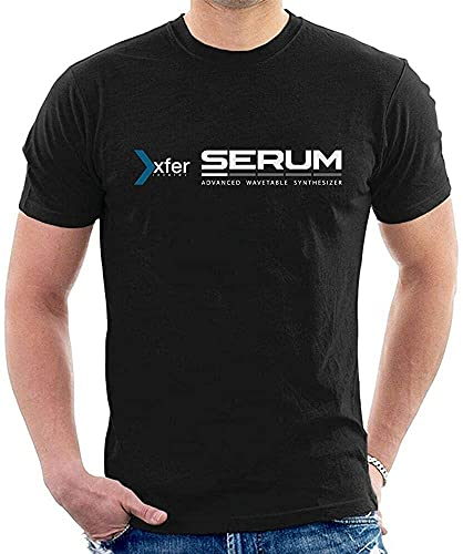 Xfer Serum Advanced Wavetable Synthesizer T-Shirt Graphic Top Printed Tee Shirt for MensBlackL