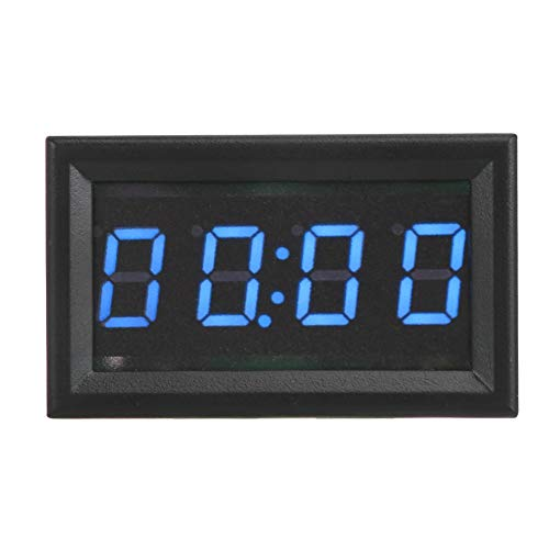 Topzon Car Electronic Clock - LED Electronic Digital Luminous Car Watch Clock Accessory Decoration (Red, Green, Blue) (Color : Blue)