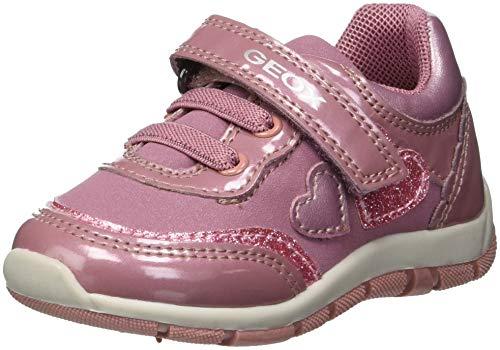 Geox Baby Mädchen B Shaax B Sneaker, Pink (Dk Pink C8006), 23 EU