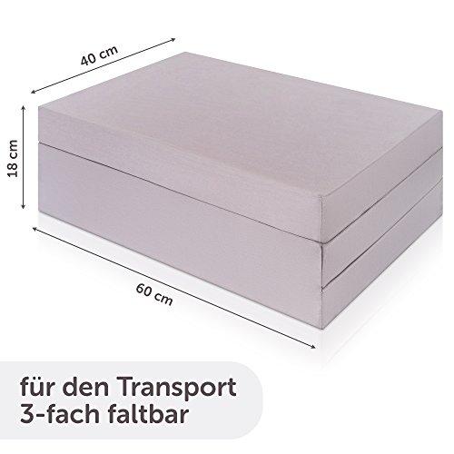Alvi Reisebettmatratze Komfort 60x120 cm/Höhe 6 cm - Matratze für Baby Reisebett mit Baumwollbezug und Tasche, atmungsaktiv, waschbar, schadstoffgeprüft - 3