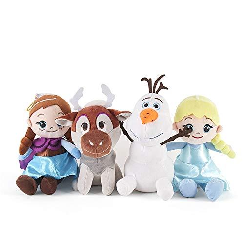 Peluches 4 Unids/Set Muñecas De Peluche Congeladas Juguete Anna Elsa Olaf Sven Juguetes De Peluche Regalos para Niñas Niños