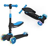 RideVOLO K02 2-in-1 Kick Scooter with Removable Seat (Black)