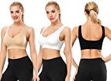 TOBWIZU Sports Bras for Women,Seamless Sleep Bra with Removable Pads Yoga Gym Activity Everyday Wear