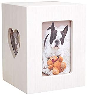 【Amazon商品】【ディアペット限定】国産ペット仏壇 クリメイションボックス ハート 4寸骨壷まで(ホワイト)
