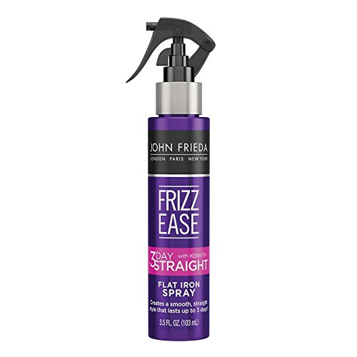 John Frieda Frizz Ease 3-day Flat Iron Spray, 3.5 Ounce Heat-activated Straightening Spray, to...