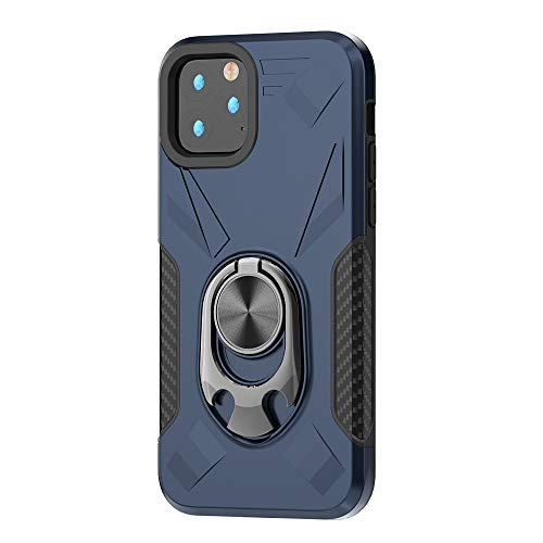 RANYOK Compatible iPhone 11 Pro Max Ring Kickstand Case, Dual Layer Armor Rugged Shockproof Protection Fit Car Magnetic Beers Bottle Opener Stand Design Hard Back Cover case (6.5 inch) (Blue)