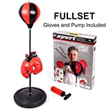Outdoor Children Boxing Set Punching Ball Bag with Gloves and Adjustable St