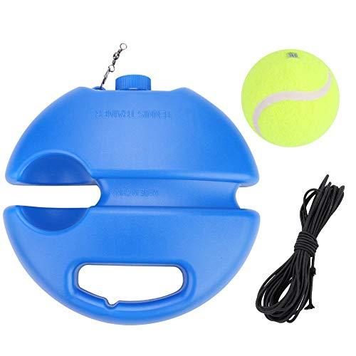 Alomejor Tennisball Trainer Tennis Baseboard mit Einem Seil und 1 Trainingsball Tennis Selbststudium Praxis Training Tool für Anfänger Kinder Erwachsene