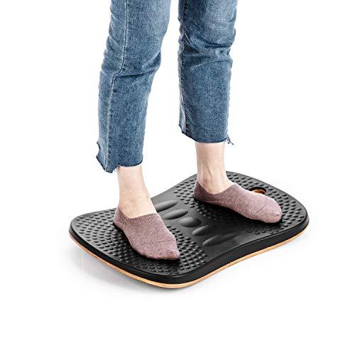 Amazing Deal Standing Desk Anti Fatigue Wobble Balance Board Stability Rocker Exercise Balance Porta...
