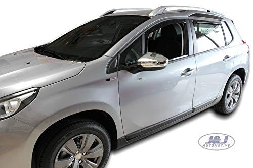 J&J AUTOMOTIVE Windabweiser Regenabweiser für Peugeot 2008 5-türer ab 2013 4tlg HEKO dunkel