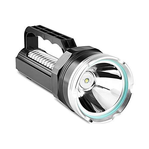 ELXSZJ XTZJ Spotlight Handheld Recargable LED Linterna Grande 10000mAh Alto 1800 lúmenes búsqueda Llore Potente Impermeable Acampar Barco Marino antorcha Marina