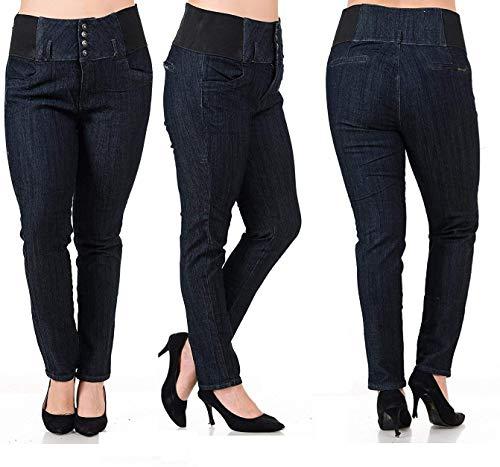 BLA Premium WOMENS PLUS SIZE Stretch pregnancy maternity BLACK denim jeans PANTS (18-P)