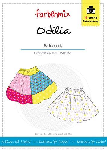 Odilia Farbenmix Schnittmuster (Papierschnittmuster für die Größen 98/104-158/164)