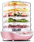 ZLSP Deshidratadores de Alimentos, secador de conservante Secador de Alimentos Digitales con Control de Temperatura Ajustable 35~70 ° C Configuración con 5 bandejas Puede Levantar for la Fruta Veg F