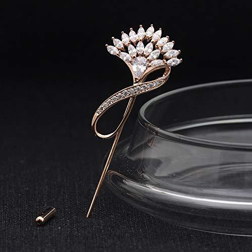 YUXIwang Broche de Pin Estilo Elegante Elegante de la señora, Elegante diseño con Incrustaciones de circonio