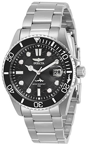 Invicta Women's Pro Diver Quartz Watch with Stainless Steel Strap, Silver, 20 (Model: 30479)