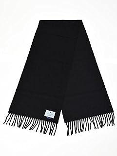 BEGG&CO【ベグ アンド コー】マフラー Arran Plain BLACK カシミヤ ブラック