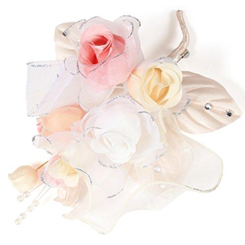(クレインズコレクション) 手作り コサージュ ブローチ ピン 小花 ブーケ フォーマル シーンや エレガント な装いに