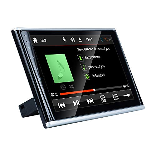 Huante Monitor de Reposacabezas de Almohada para Coche, 9 Pulgadas 2.5D HD Pantalla TáCtil Asiento Trasero Reproductor Multimedia MP5 Soporte Mirror Link