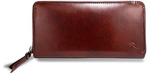 [アーノルドパーマー] 長財布 メンズ ラウンド 束入れ 本革 イタリーレザー イタリア革 APT-3307 (brown)