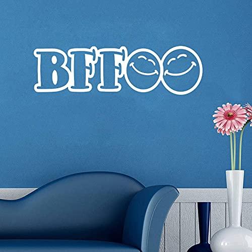 Siempre buenos amigos pegatinas de talla de vinilo pegatinas de pared desmontables papel tapiz artístico moda original decoración del hogar pintura A9 15x57cm