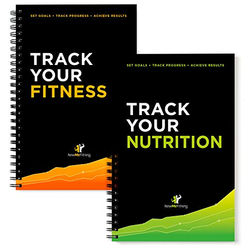 NewMe Fitness Journal for Women & Men - Fitness and Nutrition Planner to Track Weight Loss, Muscle Gain, Gym, Bodybuilding Progress - Daily Personal Health Tracker - 1 Pack (Fitness & Nutrition)