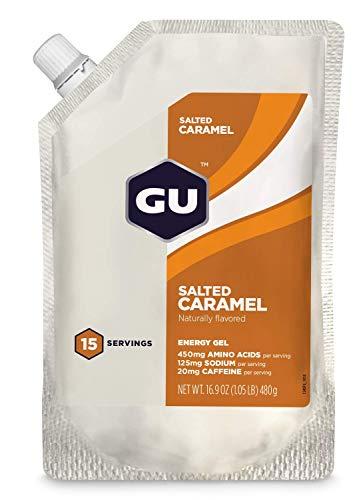 GU ENERGY GEL 15 SERVINGS SALTED CARAMEL