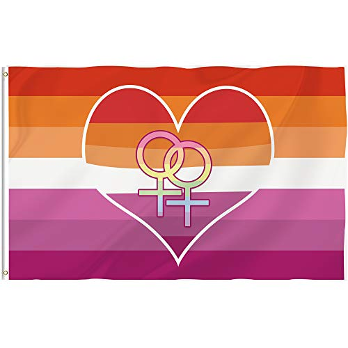 Bonsai Tree Lesbian Flag 3x5 Ft Double Sided and Double Stitched Lesbian Pride Flags with Brass Grommets Gay LGBTQ Garden House Outdoor Banners Gifts