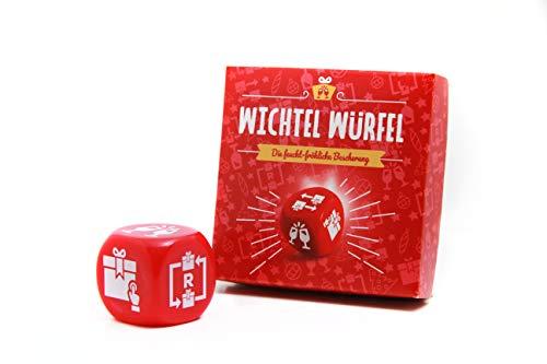 Der WICHTEL WÜRFEL - Die feucht fröhliche Bescherung! - Trinkspiel und Geschenkespaß - Wichteln, Schrottwichteln, Weihnachtsfeier, Party