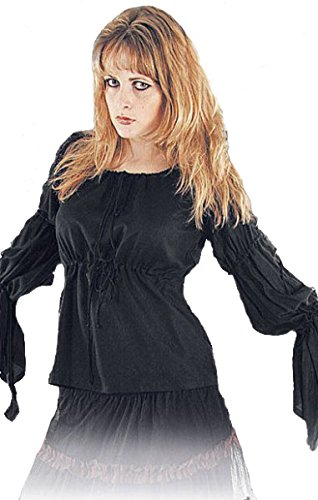 Dark Dreams Mittelalter Bluse Top Mittelalter-Bluse Anna, Farbe:schwarz, Größe:Freesize